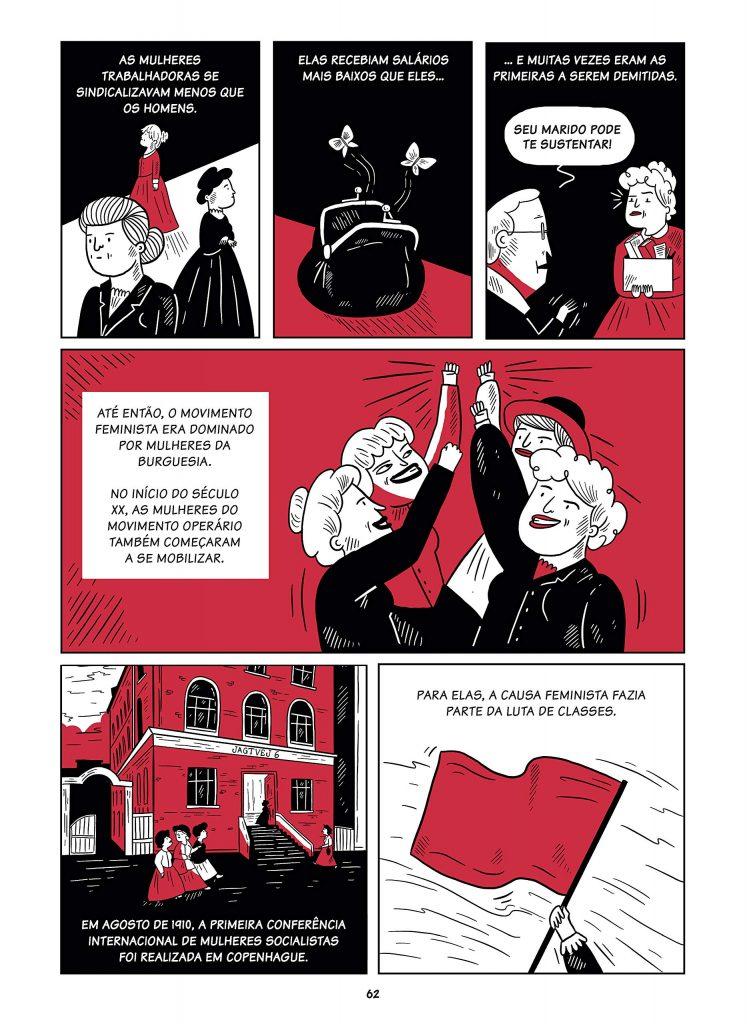 Livro Mulheres na Luta, de Marta Breen e Jenny Jordahl